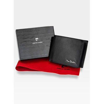 a881e4d549faf portfel męski skórzany poziomy czarny 8806 - czarny marki Pierre cardin  ModnyPortfel.pl
