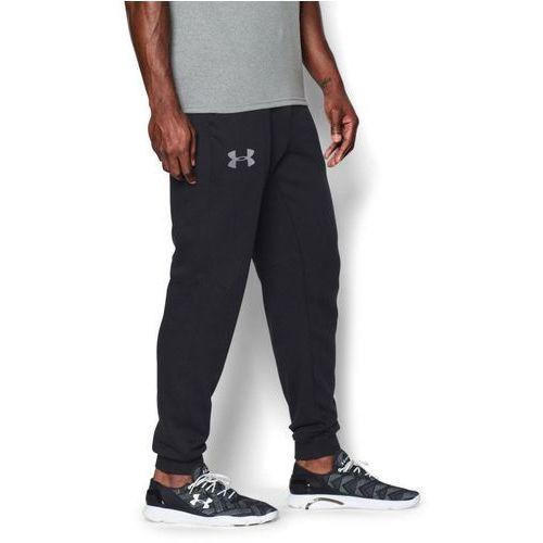 Under armour spodnie dresowe sportowe rival cotton jogger czarne - czarny