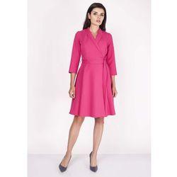 94e9078f3b Nommo. Różowa Sukienka Rozkloszowana Kopertowa ...