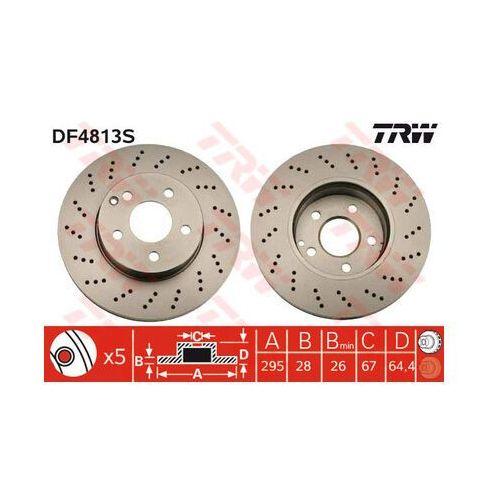 Tarcza ham df4813s mercedes c-klasa w204 c180, c200 kompresor 08-, c230, c230 4matic, c200 cdi marki Trw