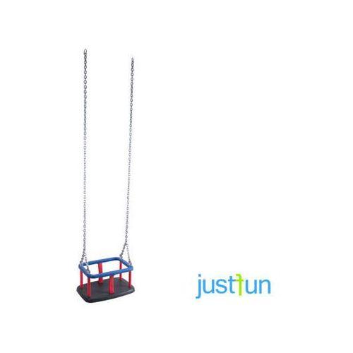 Huśtawka kubełkowa + komplet łańcuchów ze stali nierdzewnej 6mm - 1,8 m marki Just fun