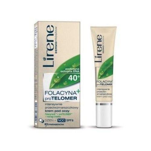 15ml folacyna 40+ kolagenowa odbudowa napinający krem pod oczy Lirene