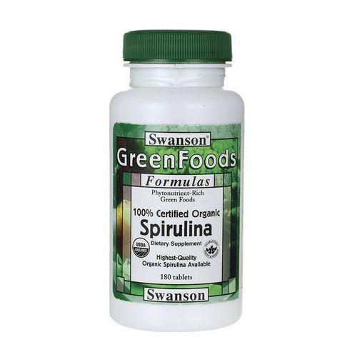 Tabletki Swanson Spirulina 100% organiczna 500mg 180 tabl