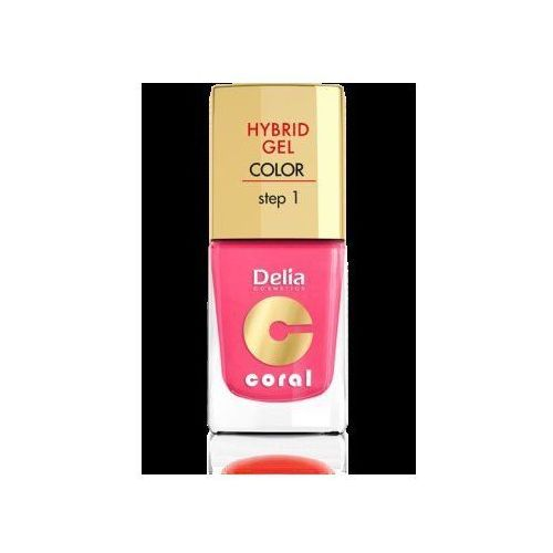Delia cosmetics coral hybrid gel emalia do paznokci nr 23 głęboki róż 11ml