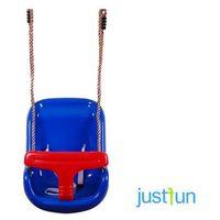 Huśtawka kubełkowa - niebiesko-czerwony marki Just fun