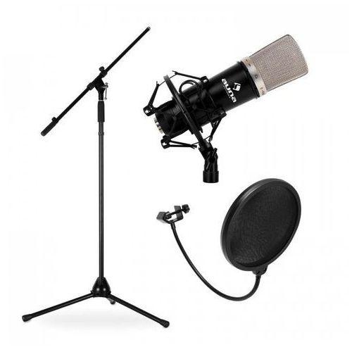 Auna Estradowy-&zestaw mikrofonowy cm003 z mikrofonem, statywem i stojakiem