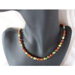 N-00030 Naszyjnik z naturalnych pereł hodowlanych, kolor beżowy