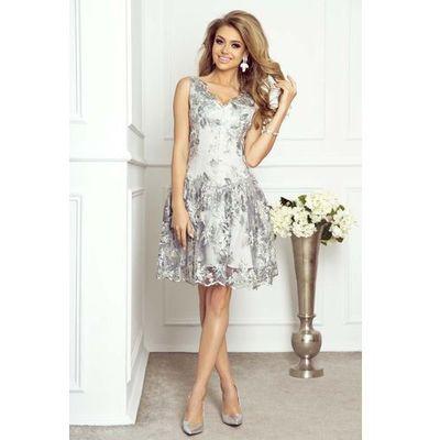 a2142de361 suknie sukienki dolly long szara rozkloszowana dluga sukienka w ...