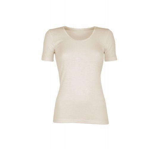 Koszulka damska z wełny merynosów (100%) - krótkie rękawy ) - kremowa (prod. dilling), Dilling (dania)