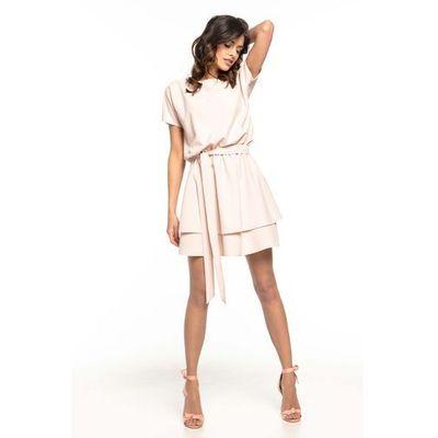 66b7070511 suknie sukienki sukienka pudrowa z falbanka kolekcja wiosna 2019 ...