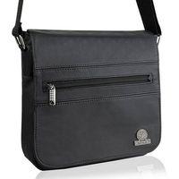 Skórzana saszetka torba na ramię betlewski btg-06 czarna