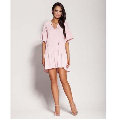 7d71224c70 Różowa dziewczęca sukienka letnia z falbankami