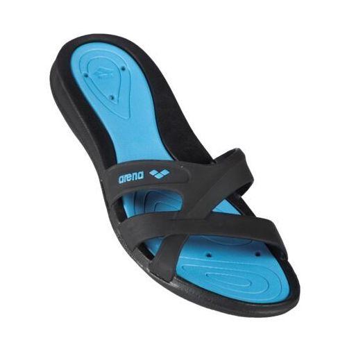 Klapki na basen Arena Athena Woman Hook (kolor czarny, kolor niebieski 37) (3468334052206)