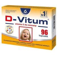 D-Vitum, witamina D dla niemowląt 600j.m., 96 kapsułek twist-off - Długi termin ważności! DARMOWA DOSTAWA od 39,99zł do 2kg! (5906874713167)