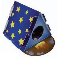 Tekturowy domek dla gryzoni w kształcie namiotu marki Hp small animal