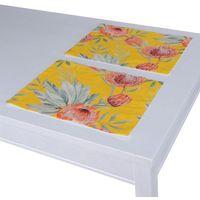 Dekoria podkładka 2 sztuki, pomarańczowe kwiaty na żółtym tle, 30x40 cm, new art