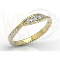 Zestaw pierścionek kolczyki i wisiorek z żółtego złota z brylantami ap-97z-r