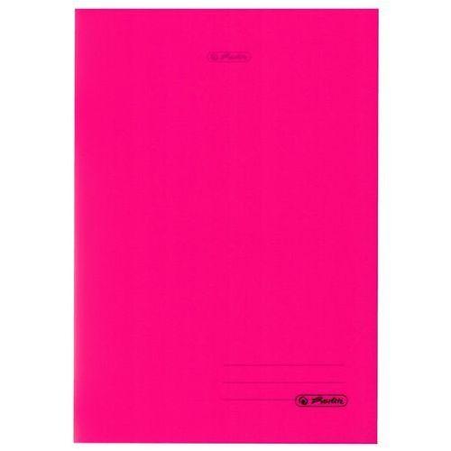 Zeszyt B5 60k kratkę okładka folii PP HERLITZ - różowy (2501234507627)