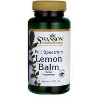Kapsułki Swanson Full Spectrum Lemon Balm (Melisa lekarska) 500mg 60 kaps.