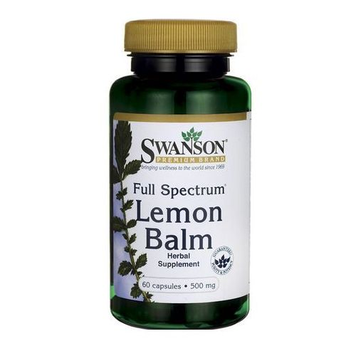 Kapsułki Swanson Full Spectrum Lemon Balm (Melisa lekarska) 500mg 60 kaps