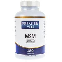 Premier Vits MSM (Siarka organiczna) 1500 mg - 180 tabletek (0711717387307)