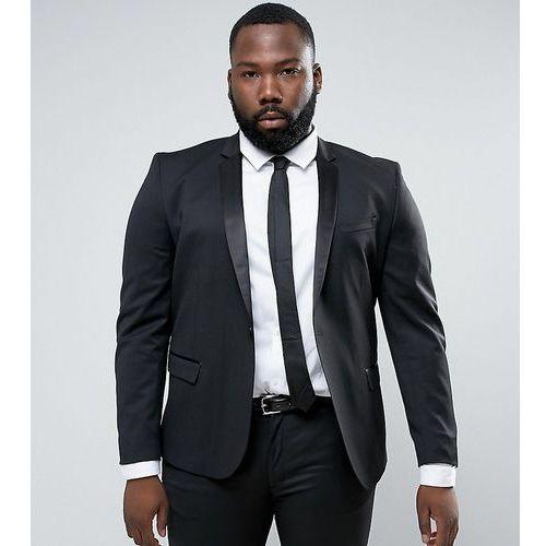 e939567922ce4 ASOS PLUS Slim Tuxedo Suit Jacket in Black - Black - Zdjęcie ASOS PLUS Slim  Tuxedo