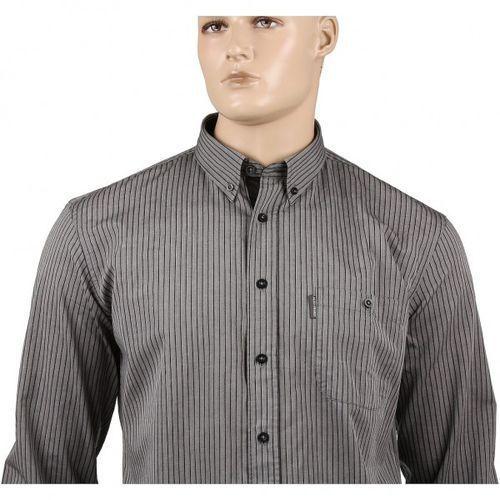Szara koszula bawełniana w paski marki Aldo vrandi
