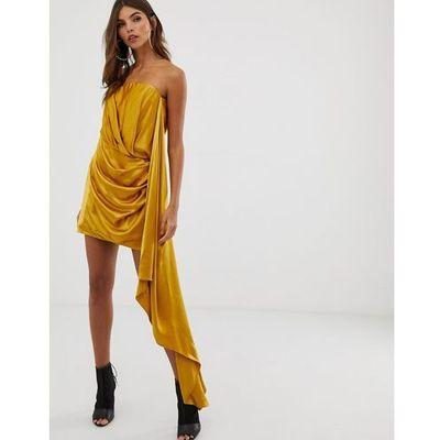 00839cae37 suknie sukienki sukienka jeansowa z fredzlami ASOS EDITION kolekcja ...