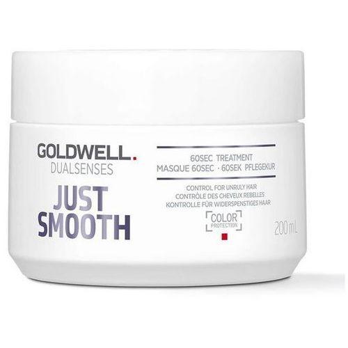 Goldwell Dualsenses Just Smooth maseczka wygładzająca do włosów trudno poddających się stylizacji (60sec Treatment - Color Protection) 200 ml