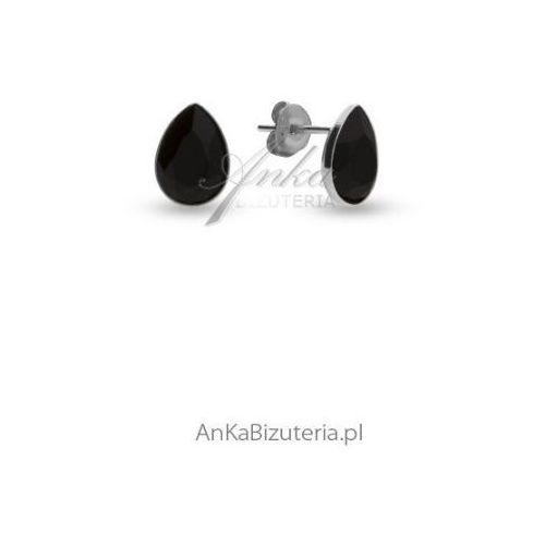 Kolczyki srebrne Swarovski ATESSA kolor szary