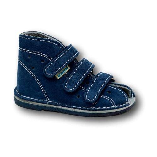 8979f84d Buciki profilaktyczne wzór 012n, kolor jeans/biały (Adamki) - sklep ...