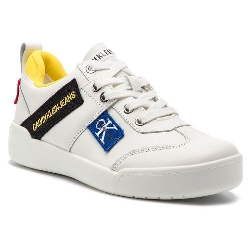 e2b3ce59e323f Sneakersy CALVIN KLEIN JEANS - Nilla R8067 Bright White, kolor biały