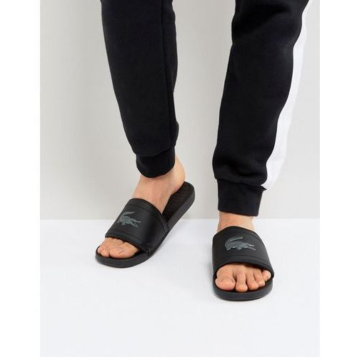 97d23159c3d88 Lacoste Fraisier Croc Sliders In Black - Black, kolor czarny - galeria  produktu