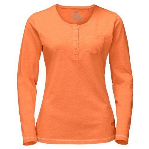 Koszulka essential longsleeve women - papaya, Jack wolfskin