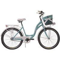 Rower miejski damski 26 Kozbike 24 3 biegi morsko-biały KOZBIKE (kolory) 3B (28) KOSZ I WKŁADKA (-24%)