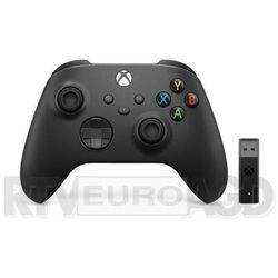 xbox series kontroler bezprzewodowy + adapter (carbon black) marki Microsoft
