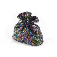 Torebka sakiewka z cekinami - kolorowa