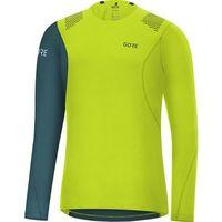 GORE WEAR R7 Koszulka z długim rękawem Mężczyźni, citrus green/dark nordic blue L 2020 Koszulki do biegania długi rękaw