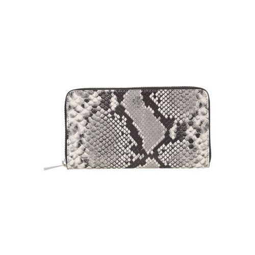 Tory Burch ROBINSON ZIP CONTINENTAL WALLET Portfel grey