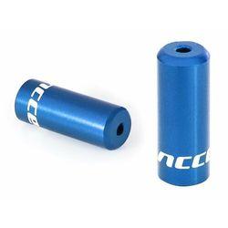 Accent Końcówki pancerza aluminiowe 4mm, przerzutkowe, 100szt. niebieskie - niebieski \ 100