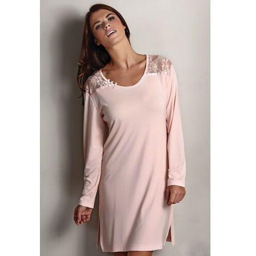 Bambusowa koszula nocna damska ANNA L Srebrny, kolor szary  60LDZ