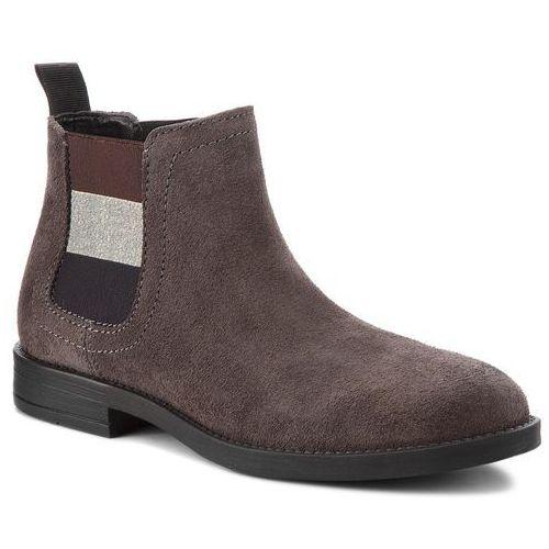 38cdcb6760992 Tommy Jeans Sztyblety TOMMY JEANS - Essential Chelsea Bo EN0EN00305 Steel  Grey 039