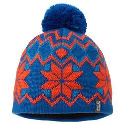 Jack wolfskin Czapka kids nordic pompom cap - classic blue