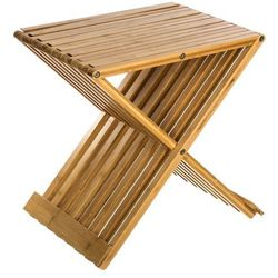 Bambusowy taboret BAMBOU, składany