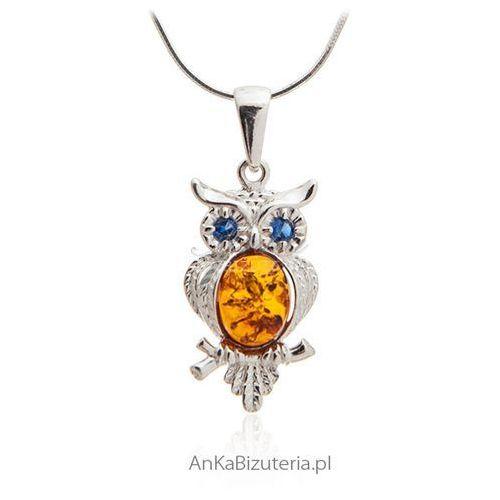 8c1e74083713 Wisiorek sowa z bursztynem - biżuteria srebrna (AnKa Biżuteria ...