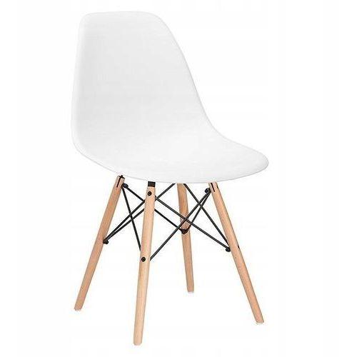 Krzesło dsw milano design białe, kolor biały
