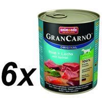 Megapakiet original adult, 24 x 800 g - wołowina i łosoś ze szpinakiem marki Animonda grancarno