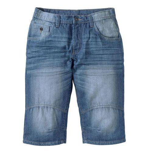 "Długie bermudy dżinsowe Loose Fit bonprix niebieski ""medium bleached used"