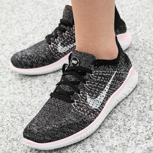Buty treningowe damskie Nike Free RN Flyknit (942839-007), kolor czarny