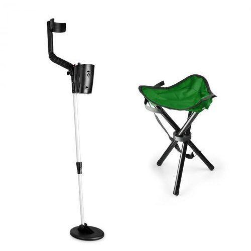 basic green zestaw do poszukiwania złota | detektor metali + stołek | cewka 16,5 cm marki Duramaxx